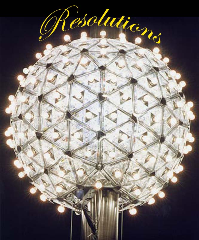 New Years Ball with the title Resoultions